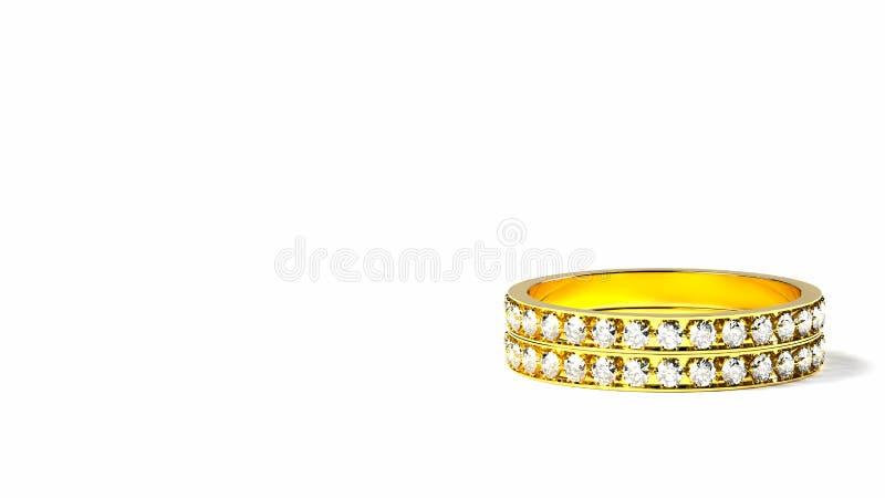 Diamond rings vector illustration