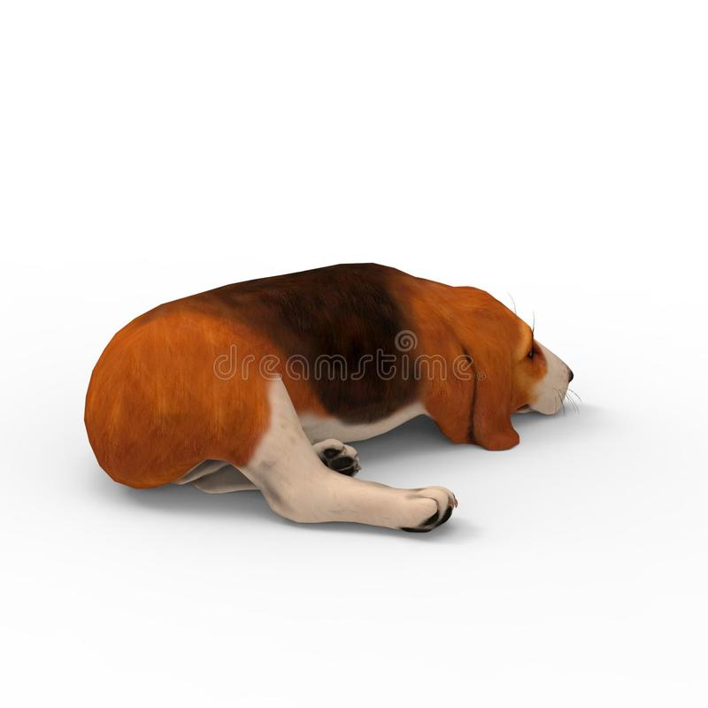 3d rendering of dog created by using a blender tool stock illustration
