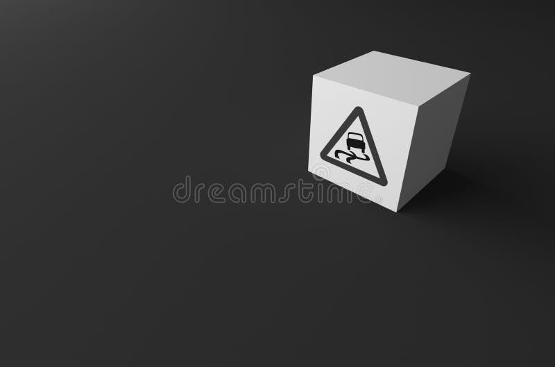 3D rendering DROGOWY znak DALEJ fotografia royalty free
