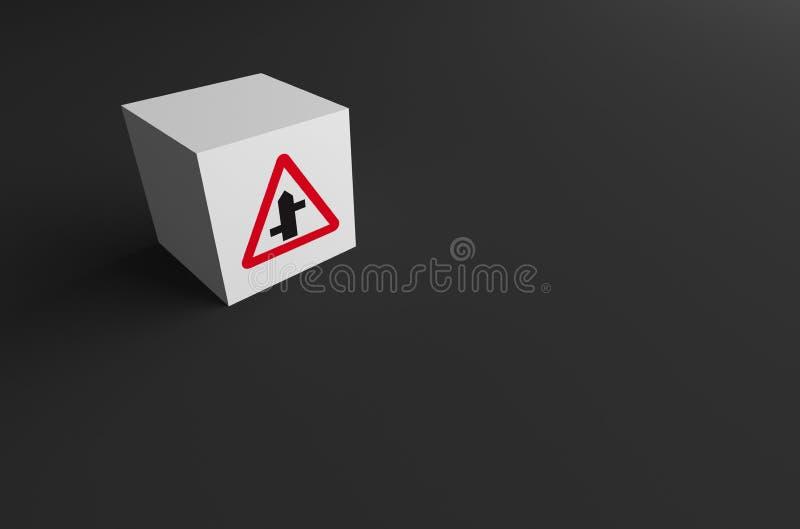3D rendering DROGOWY znak DALEJ zdjęcie stock