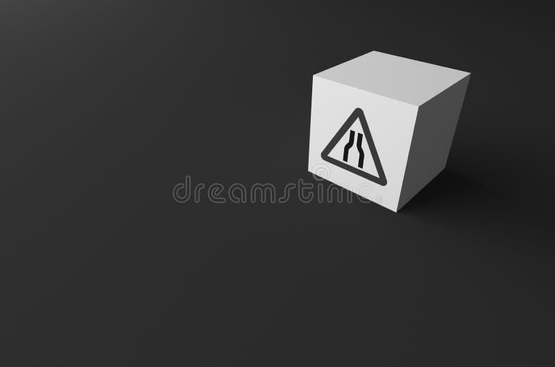 3D rendering DROGOWY znak DALEJ fotografia stock