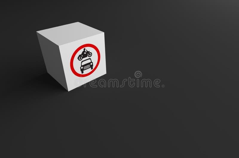 3D rendering DROGOWY znak DALEJ obrazy royalty free