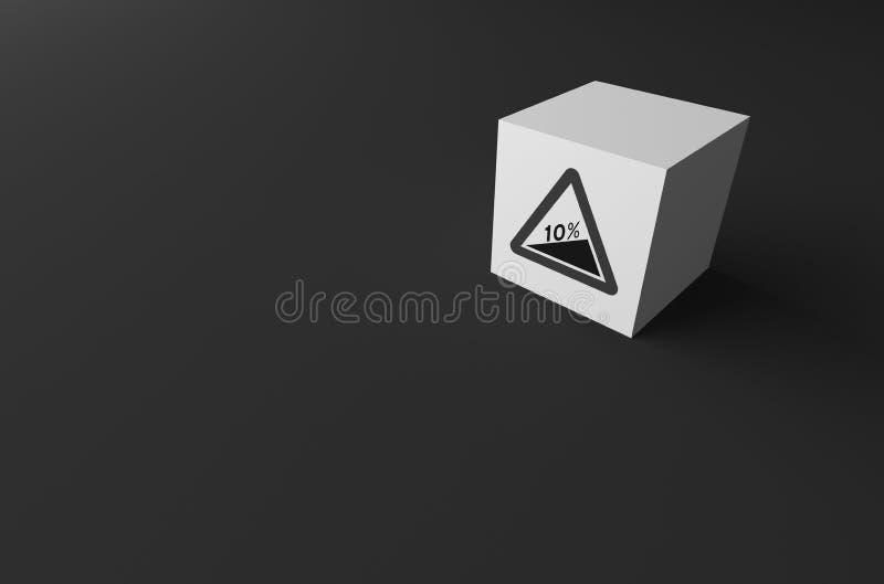 3D rendering DROGOWY znak DALEJ zdjęcia stock