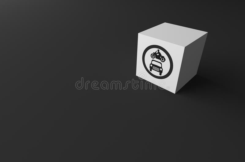 3D rendering DROGOWY znak DALEJ obraz stock