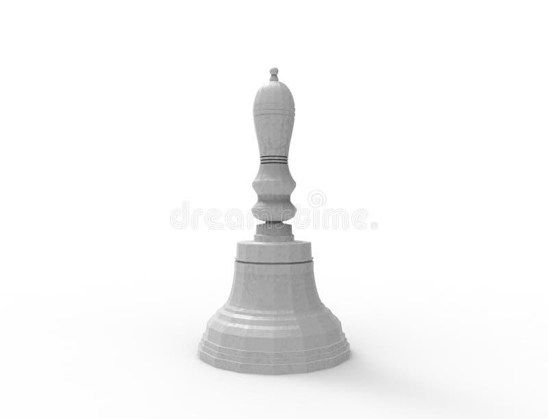 3d rendering dzwon odizolowywający w białym pracownianym tle ilustracja wektor