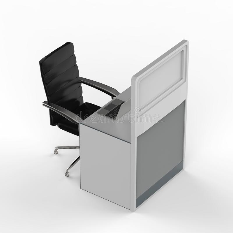 Office cubicle or workspace vector illustration