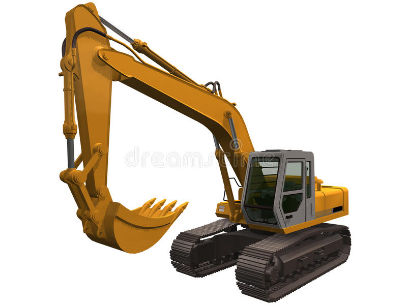 Download 3d Rendering Of A Excavator Stock Illustration - Illustration: 32083875