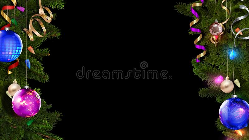 3D rendering of a bright festive Christmas frame will help create an amazing magical atmosphere stock illustration
