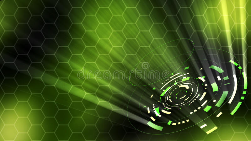 3D rendering of a futuristic abstract hud stock illustration