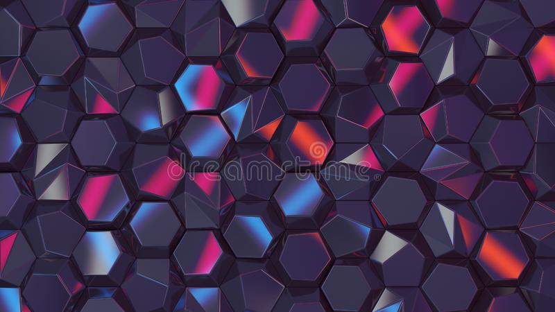 Colored abstract hexagons blank backdrop stock illustration