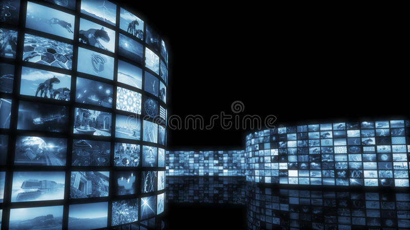 3d rendering. Glamorous tinted video wall stock image