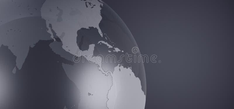 Glass Crystal Earth Globe Closeup vector illustration