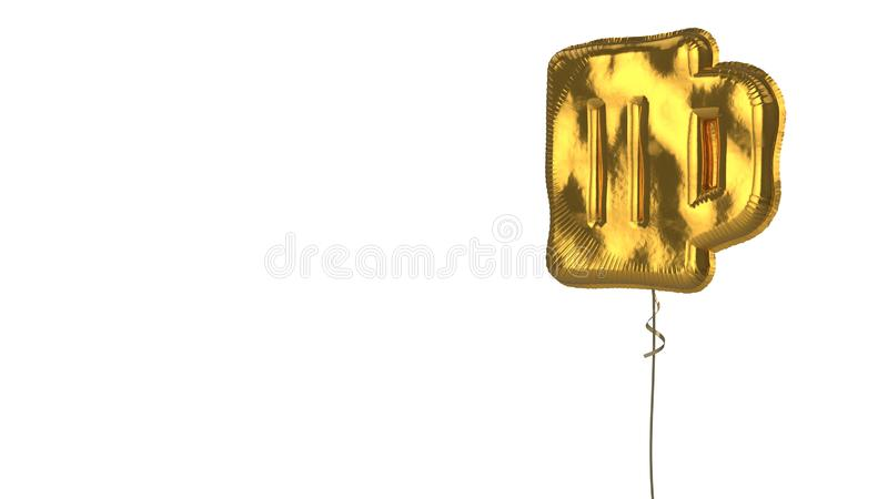 gold balloon symbol of glass of beer on white background vector illustration