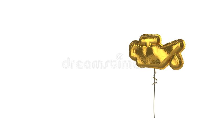 gold balloon symbol of oil can on white background royalty free illustration