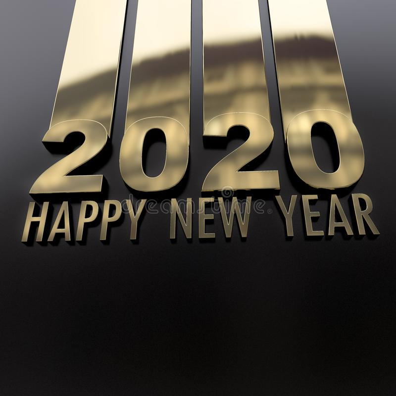 Happy New Year 2020 stock illustration