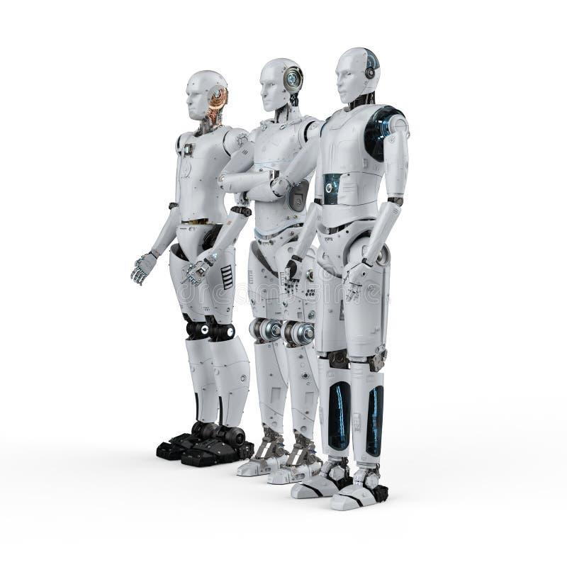Artificial intelligence teamwork royalty free illustration