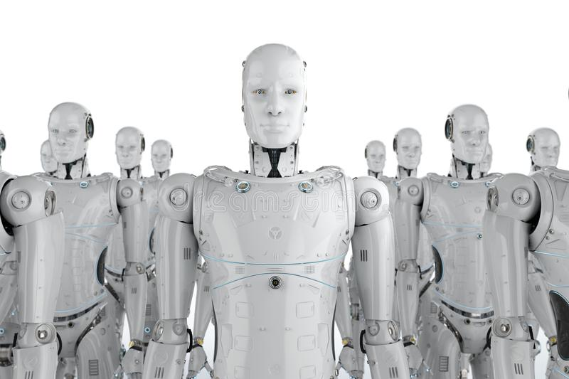 Group of robots vector illustration
