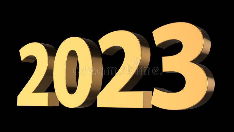 3d rendering of happy new year.merry Christmas with black background color vector illustration
