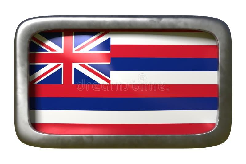 3d rendering Hawaje stanu flaga ilustracja wektor