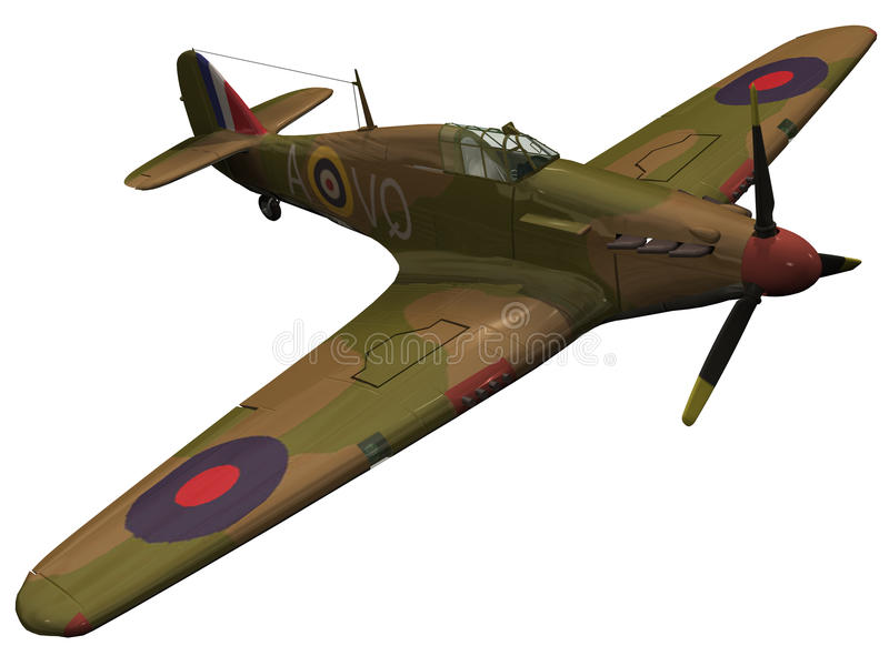 3d Rendering of a Hawker Hurriance vector illustration
