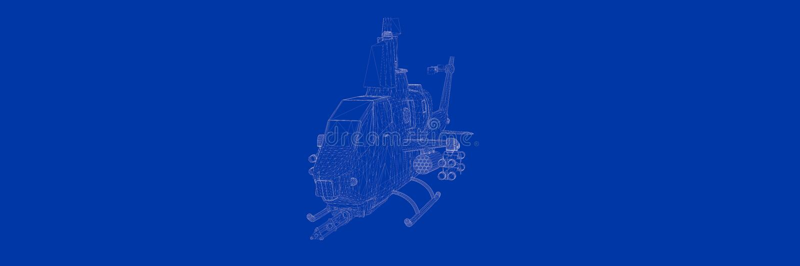 3d rendering of a helicopter on a blue background blueprint stock download 3d rendering of a helicopter on a blue background blueprint stock illustration illustration of malvernweather Gallery