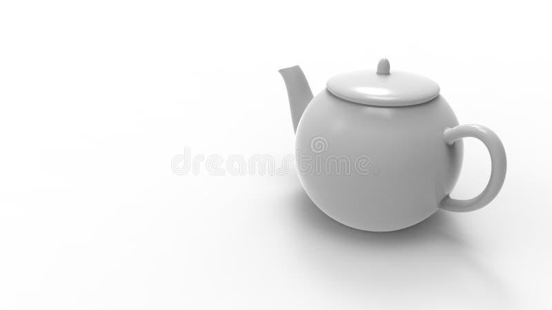 3d rendering herbaciany garnek odizolowywający w białym pracownianym tle royalty ilustracja