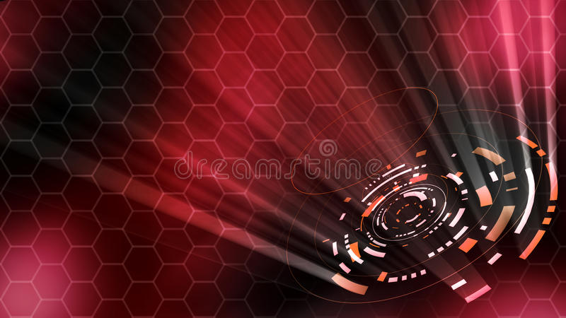 3D rendering of a hologram abstract hud royalty free illustration