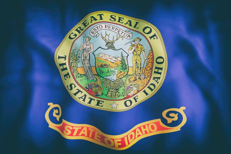 Idaho State flag stock illustration