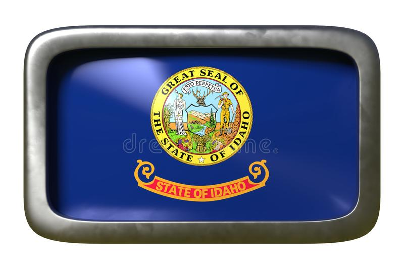 3d rendering of Idaho State flag royalty free illustration