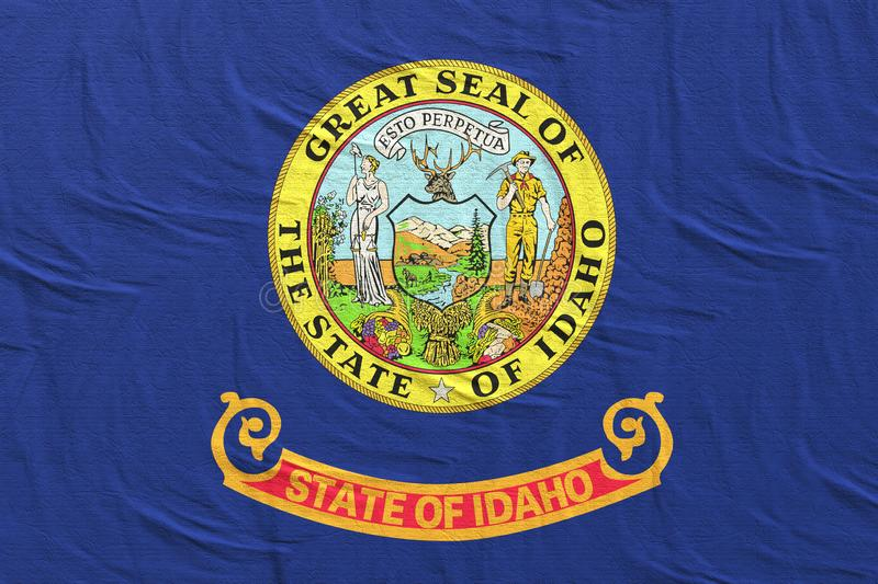 3d rendering of Idaho State flag vector illustration