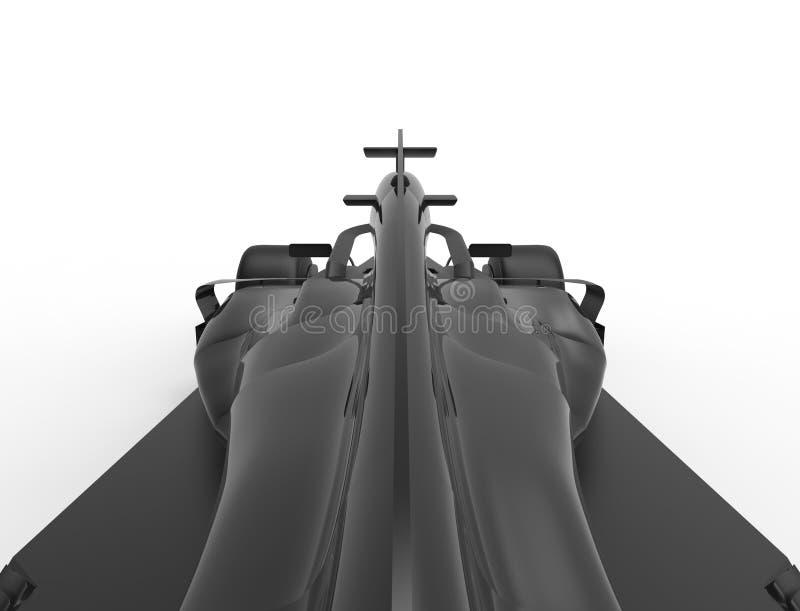 3D rendering illustration of a all black formula race sport car royalty free illustration