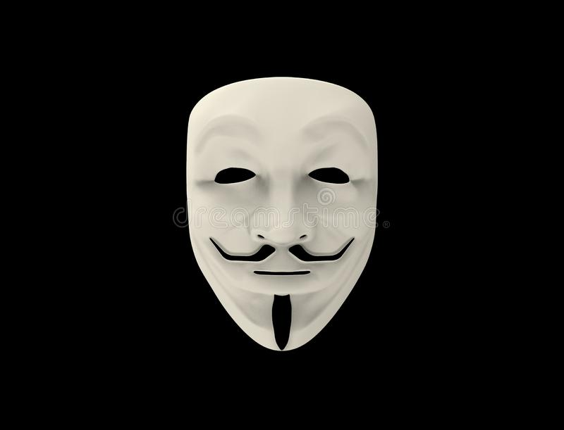 Guy Fawkes / Anonymous mask isolated. royalty free illustration