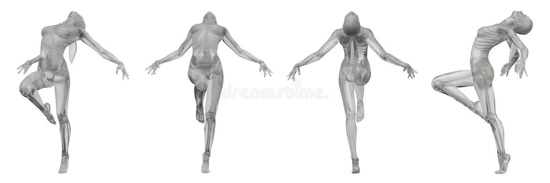 3d rendering of human. 3d rendering illustration of human royalty free illustration