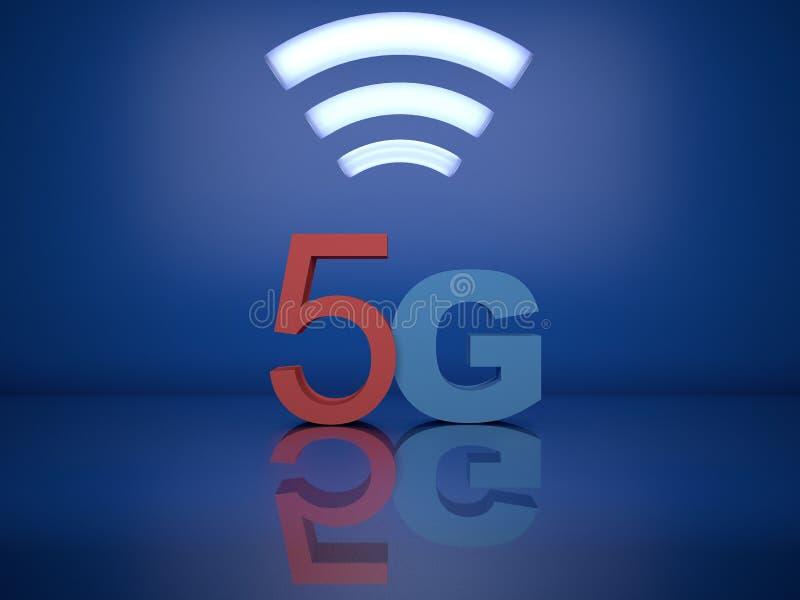 Upcoming 5g mobile technology vector illustration