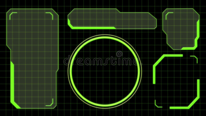 3D rendering of an interactive hud royalty free illustration