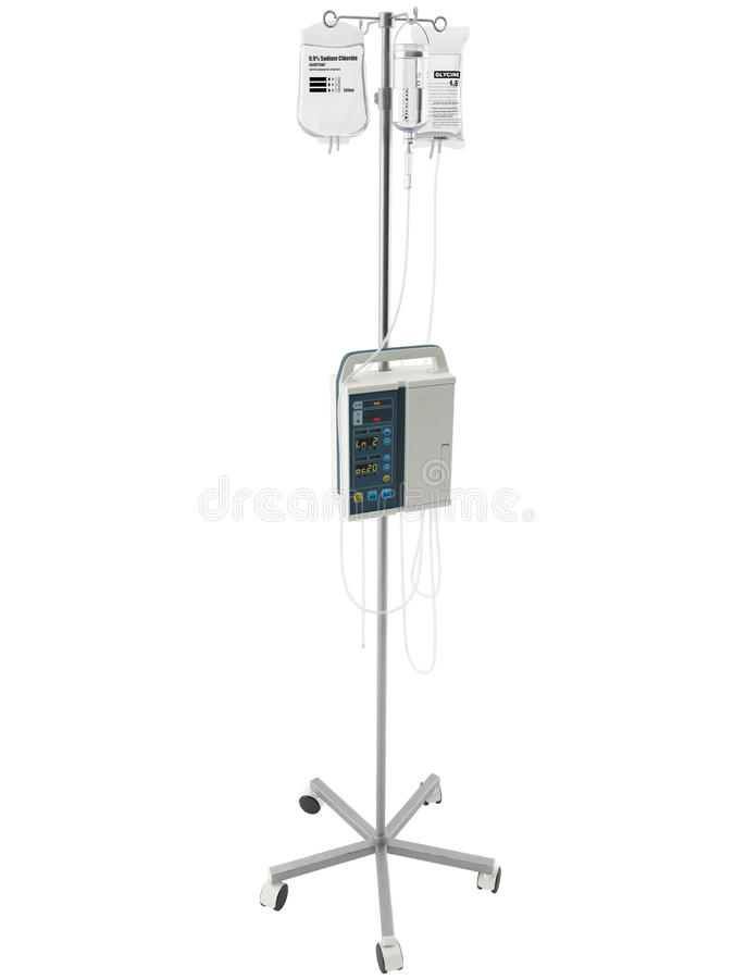 3d Rendering of a IV Pole. 3d Rendering of a medical IV Pole royalty free illustration