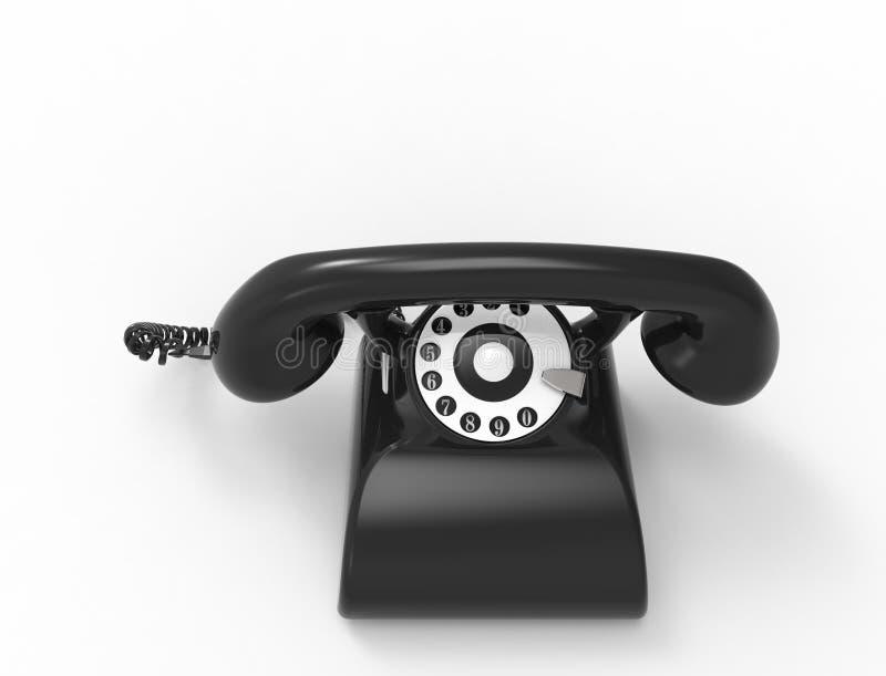 3D rendering klasyczny rocznika telefon odizolowywaj?cy w bia?ym pracownianym tle royalty ilustracja