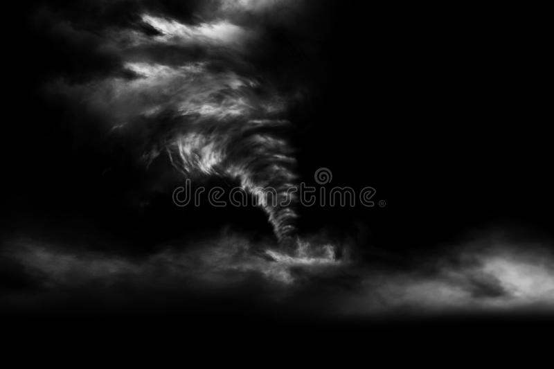 3D rendering A large storm produced a Tornado royalty free stock photo