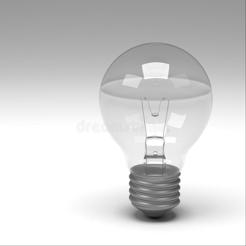 3d rendering of lightbulb. Isolated royalty free illustration