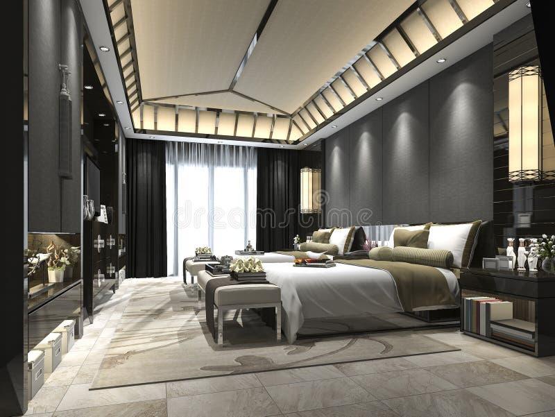 download 3d rendering luxury tropical bedroom suite in resort hotel stock illustration illustration of design