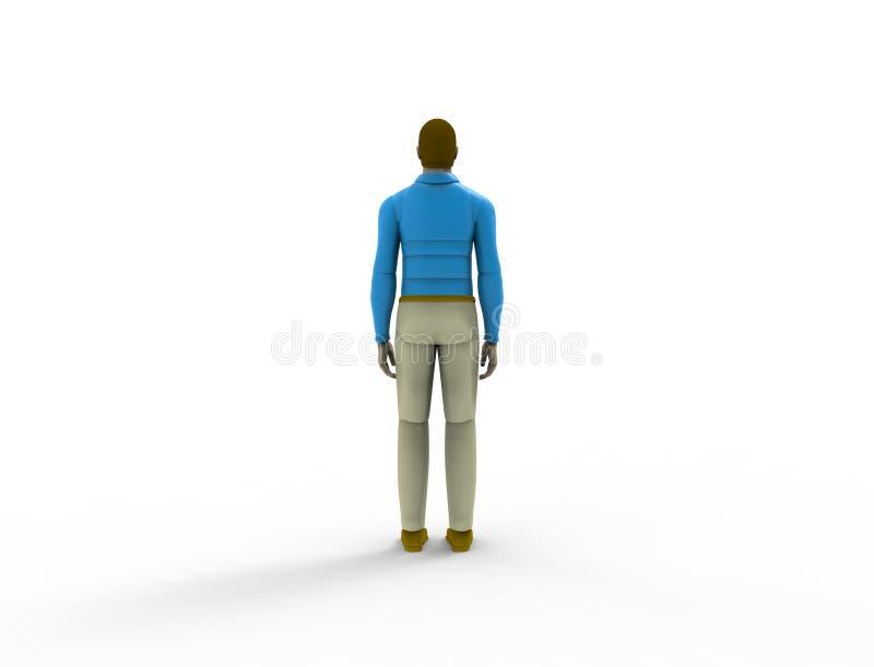3d rendering męska lala odizolowywająca w białym pracownianym tle ilustracji