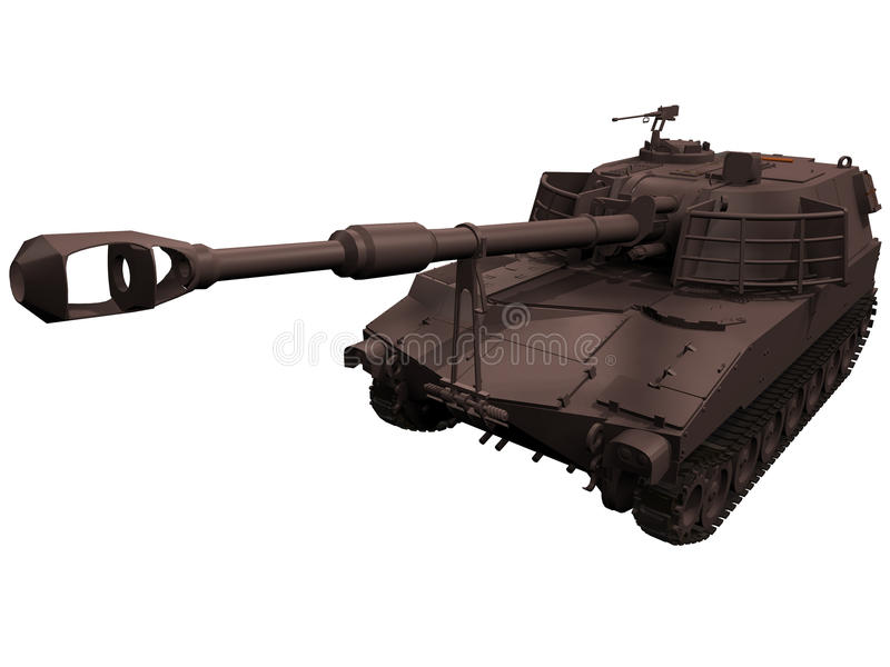3d rendering M109 granatnik ilustracji