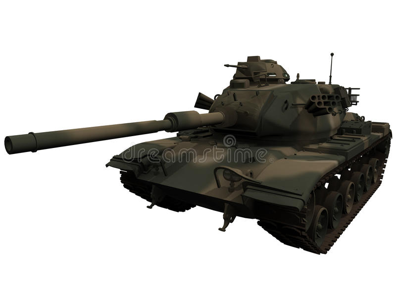 3d Rendering Of A M60 Patton Tank Royalty Free Stock Photos