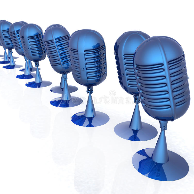 3d rendering mikrofony ilustracja wektor