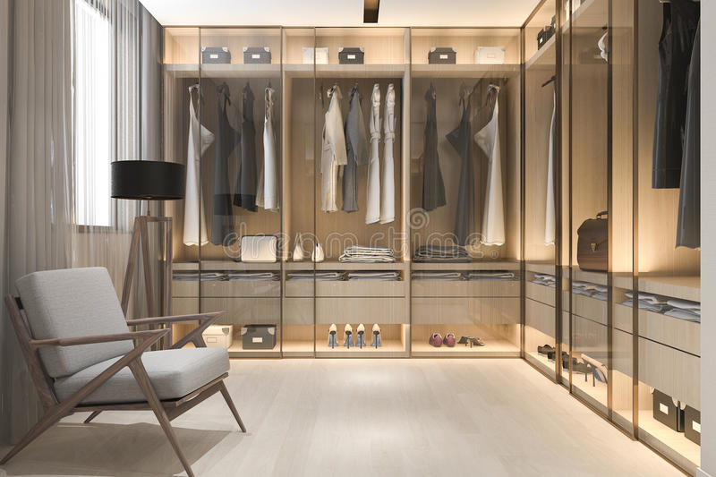 3d Rendering Interior And Exterior Design By Myself. Closet ...