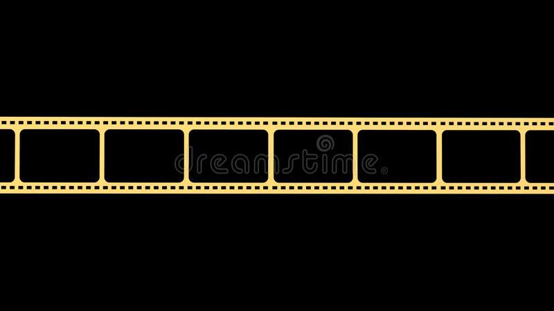 3d rendering of 35mm film strip scan with signs of usage with isolated background vector illustration
