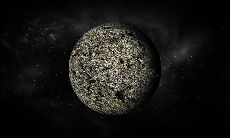 3D-rendering of Moon.Extremely detailed image including elements. stock illustration