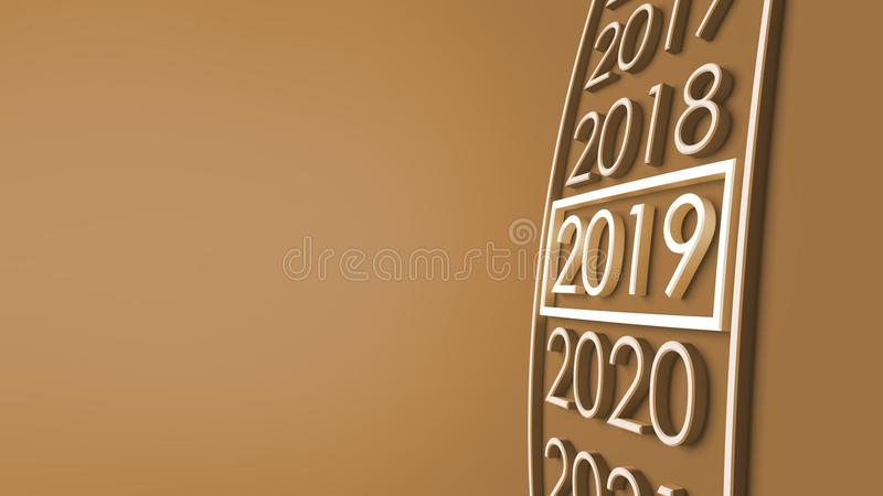 2019 3d rendering. vector illustration