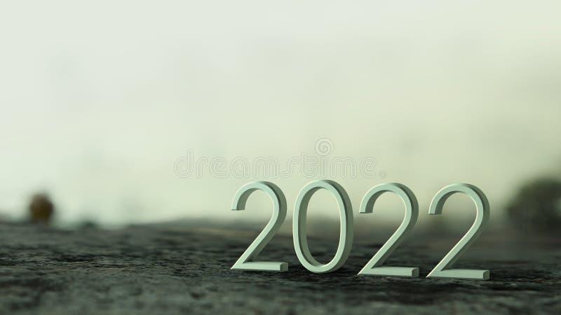 2022 3d rendering. vector illustration