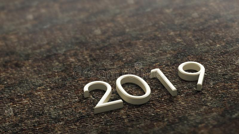2019 3d rendering. stock illustration
